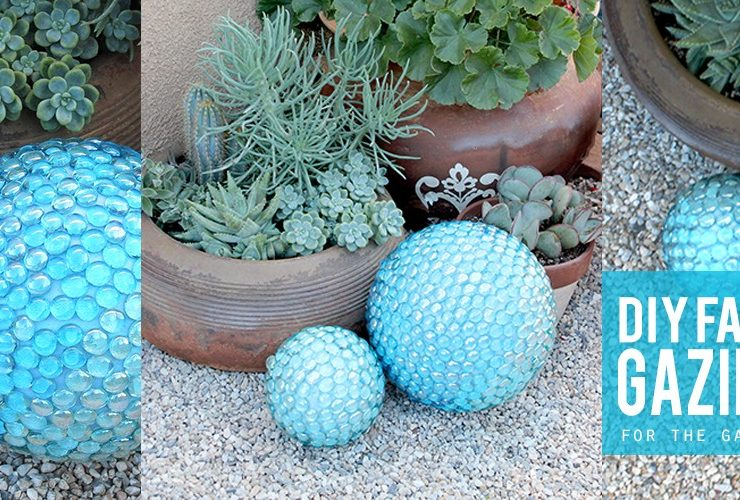 DIY Faux Gazing Ball for the Garden