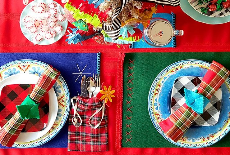 How to set up a festive Christmas table on a budget with things you already have (and a few you make)