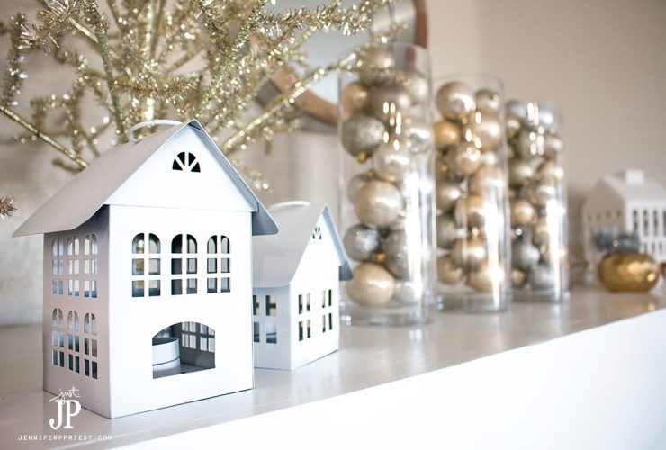 Living with Less – Frugal Holiday Decor for the Mantel