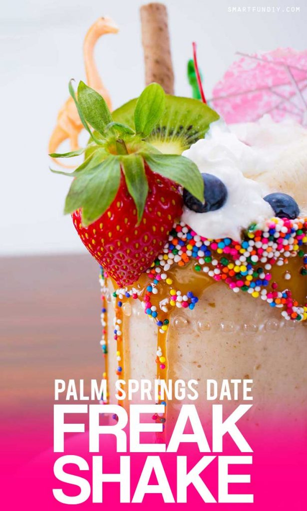 Banana Date Shake recipe PLUS how to make a Palm Springs Date Banana Freak SHAKE! Inspired by the Lip Smacker Tastemaker Contest ... #LStastemaker CLICK for the vegan date banana shake recipe.